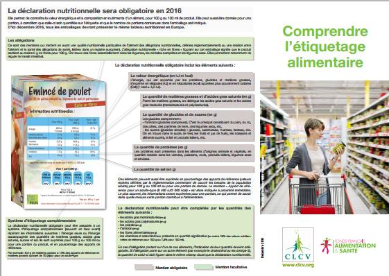 Comprendre letiquetage alimentaire 2015
