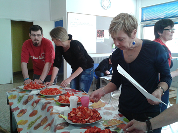 Dégustation fraises tomates à Saint-Omer 62
