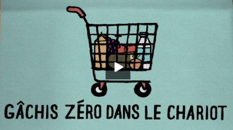 Campagne Gâchis zéro dans le chariot