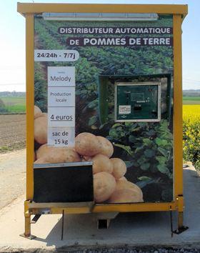automate de distribution de pommes de terre