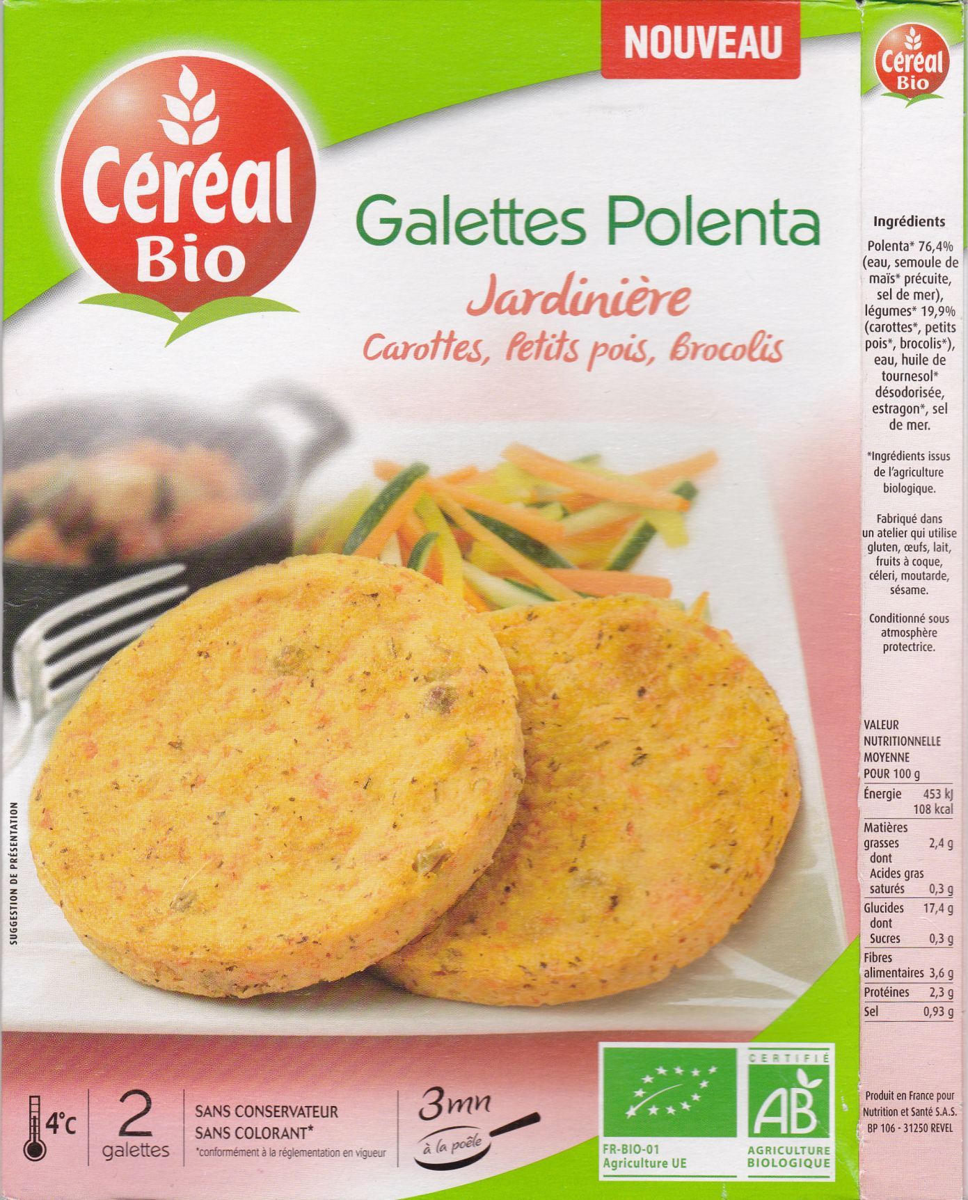 cerealbio polenta liste des ingredients