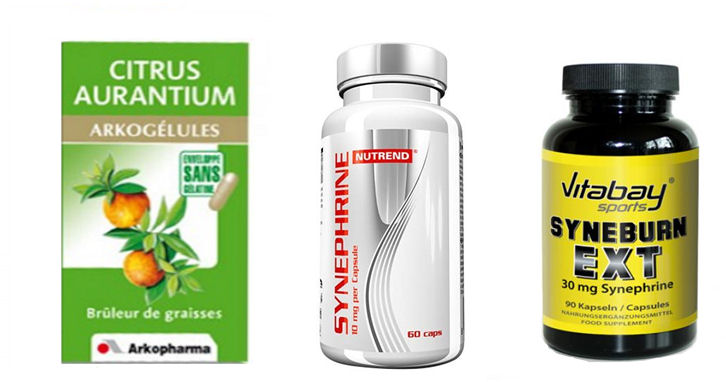complements alimentaires avec synephrine
