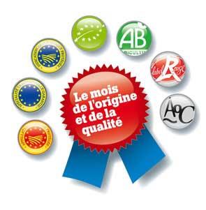 labels officiels de qualité et d'origine