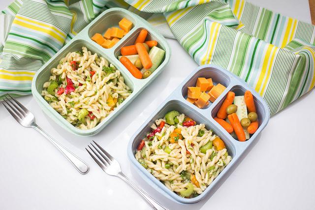 pâtes lunch box