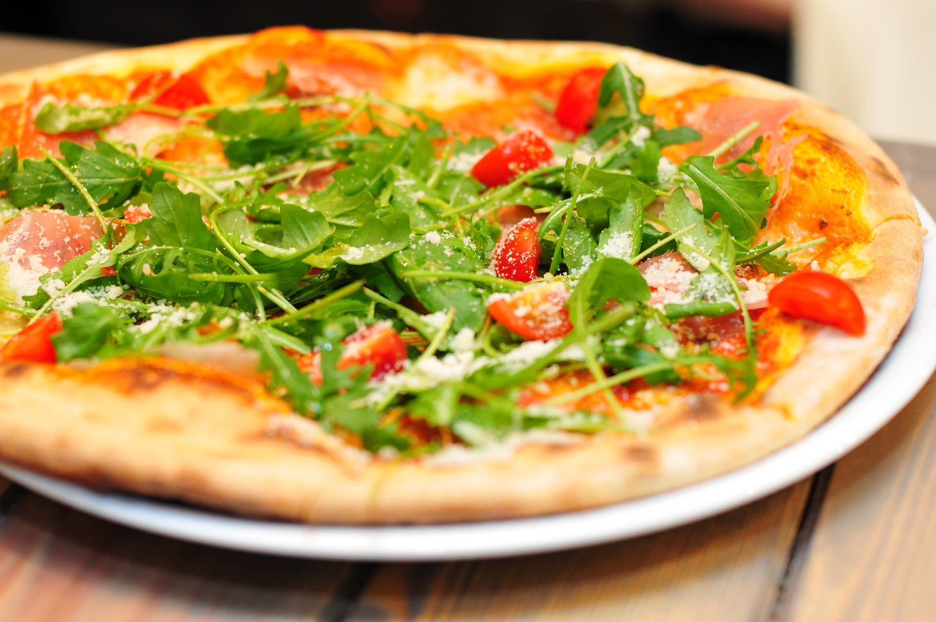 pizza roquette-parmesan sain clcv