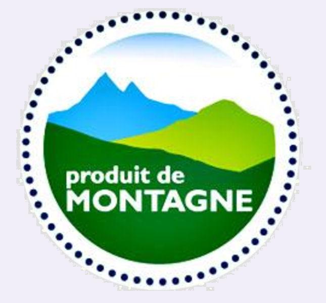 label produit de montagne
