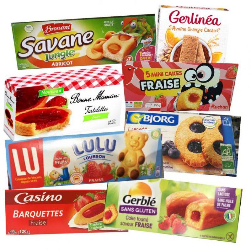 Enquête - Biscuits, gâteaux et barres de céréales : des fruits surtout sur l'emballage !